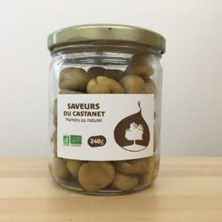 Marrons au naturel AB 240g