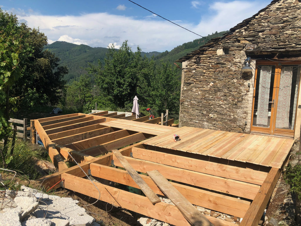 Gîte en construction